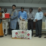 Presenting gifts to Staffs