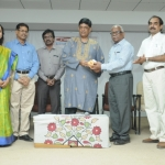 Mr Ramanan welcome by Dr Captain Ragavelu